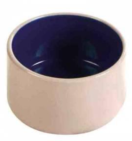 Napf für Nager, Keramik weiß-blau - Bild vergrößern